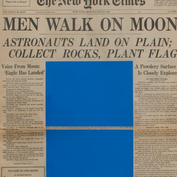 Marine Hugonnier - Art For Modern Architecture (New York Times – Moon Landing – 21/07/69 & Izvestiya – Moon Landing – 21/07/69), 2018
