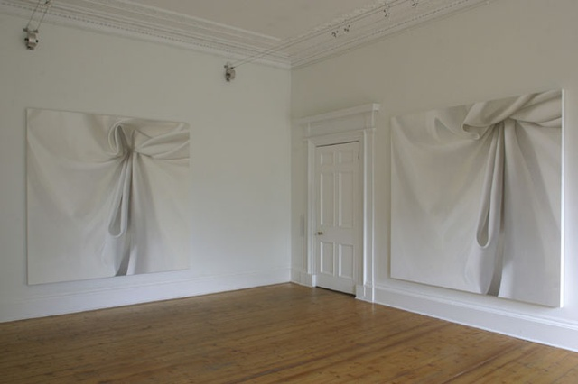 Hood and Flow installed at the Ingleby Gallery, 2004
