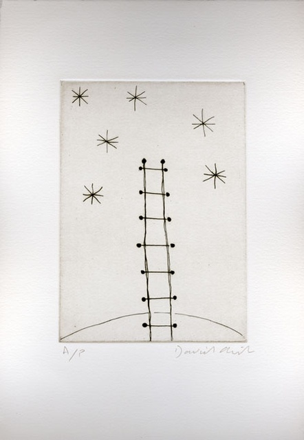 Tempest of Stars (ladder) 1992 etching, edition of 15 plus 1 AP 17.5 x 12.5 cm paper size £380 +vat framed