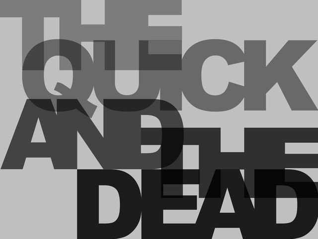 The Quick and the Dead 2010 six-colour screenprint